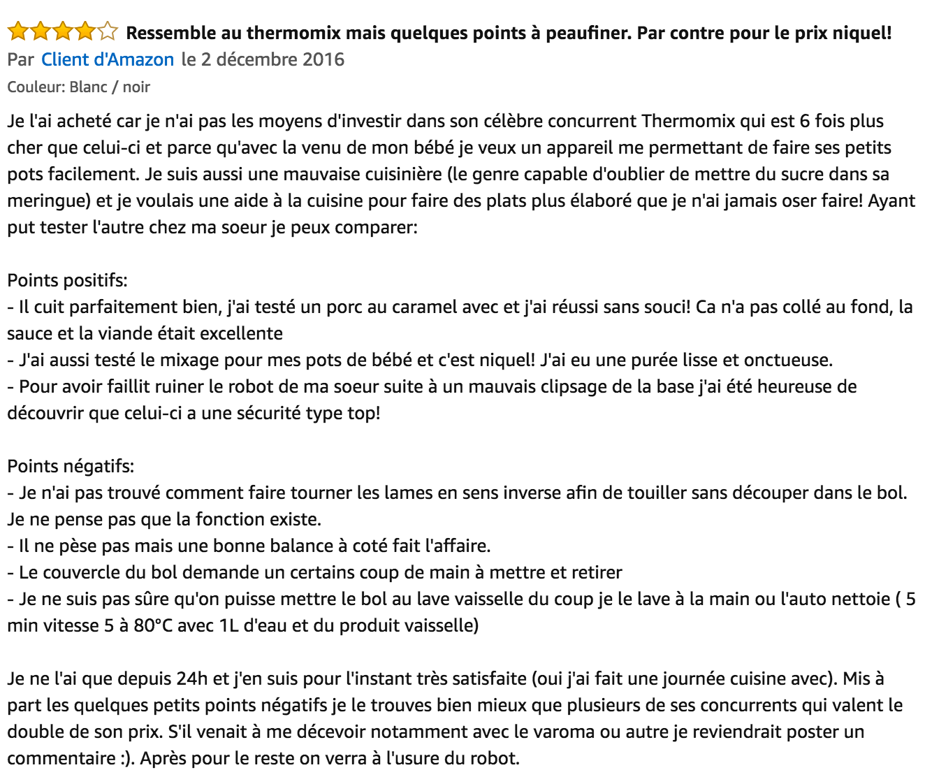 commentaire Klarstein Food Circus